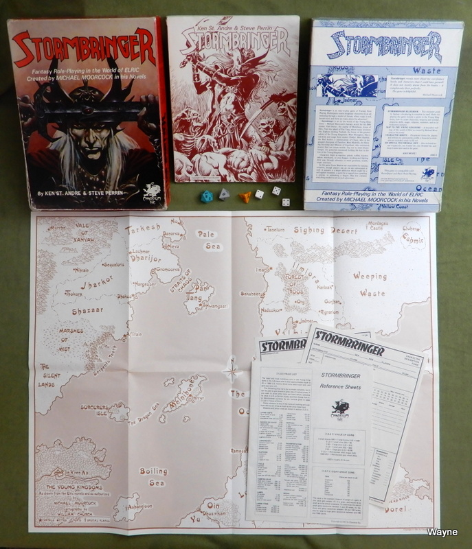 "Image for Stormbringer: Fantasy Role-Playing in the World of Elric (1st Edition, 1st Print ""Deep Box"")"