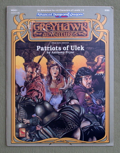 Image for Patriots of Ulek (Advanced Dungeons & Dragons/Greyhawk Module WGQ1)