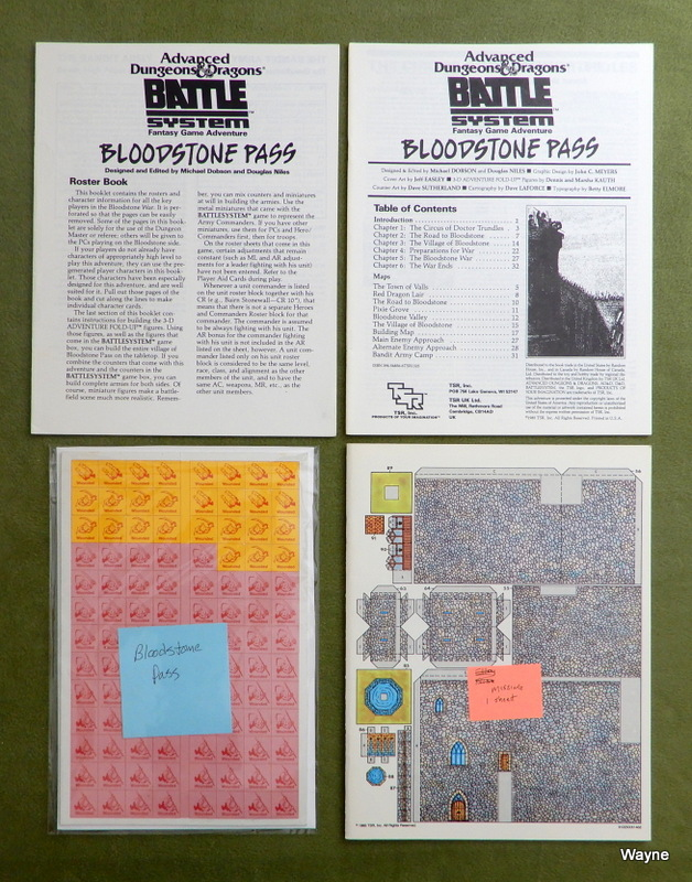 Image for Bloodstone Pass (AD&D Battlesystem module H1) - INCOMPLETE
