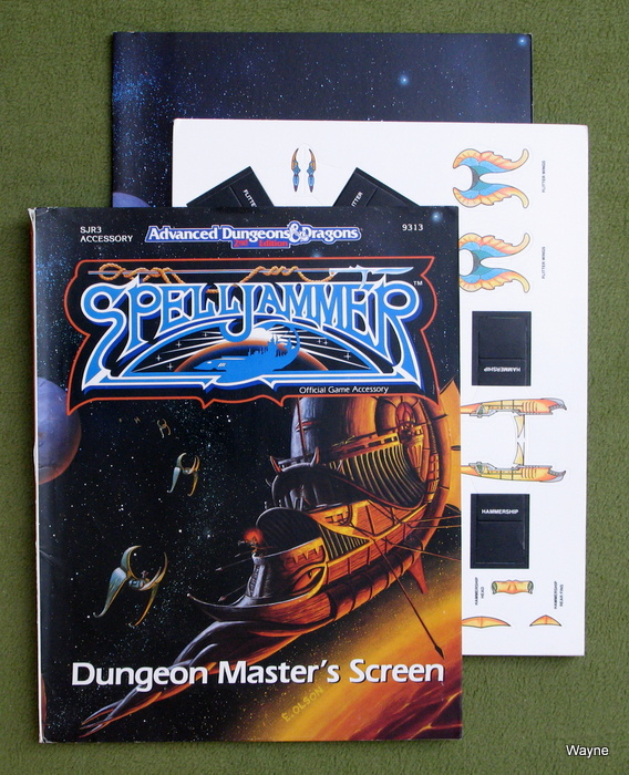 Image for Dungeon Master's Screen (Advanced Dungeons & Dragons/Spelljammer, SJR3 Accessory)