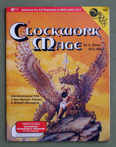 Image for Clockwork Mage (Role Aids/Advanced Dragons and Dungeons) - PLAY COPY