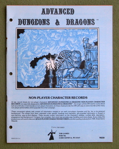 Image for Non-Player Character Records (Advanced Dungeons & Dragons) - 1ST PRINT