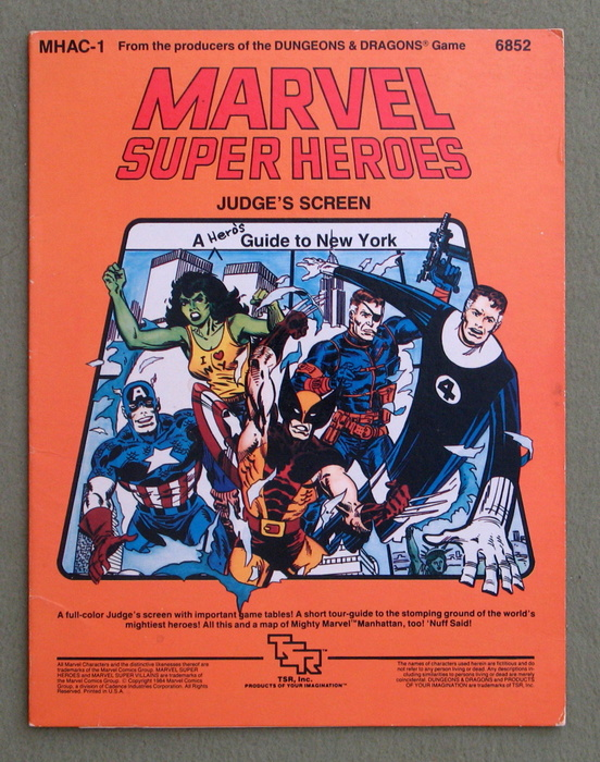 Image for Marvel Super Heroes Judge's Screen (MHAC1) - SCREEN ONLY