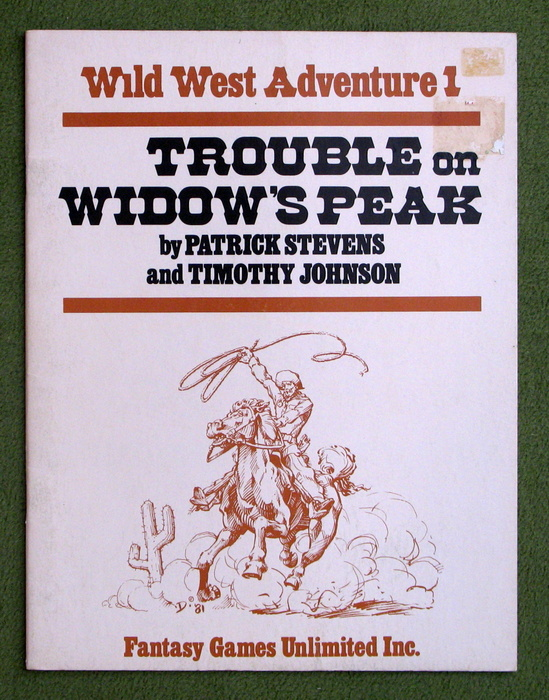 Image for Trouble on Widow's Peak (Wild West Adventure 1)