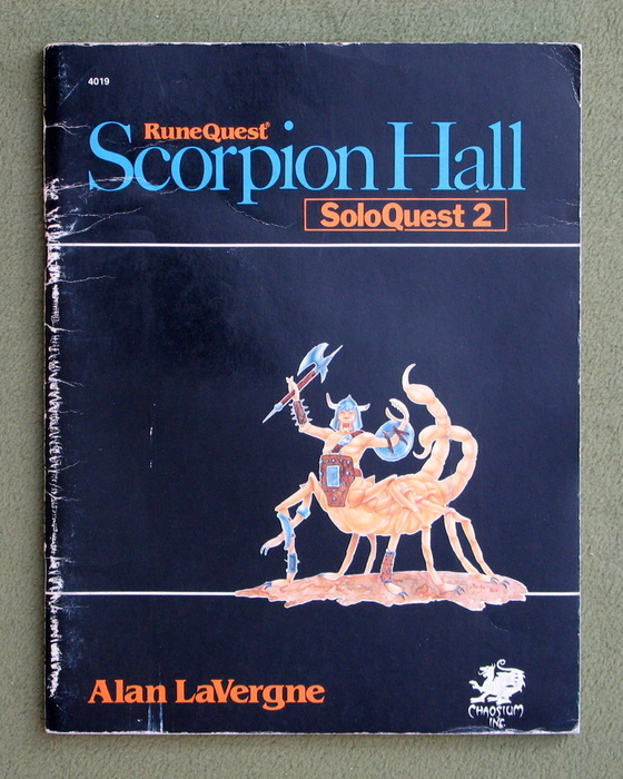 Image for Scorpion Hall: Soloquest 2 (Runequest) - PLAY COPY