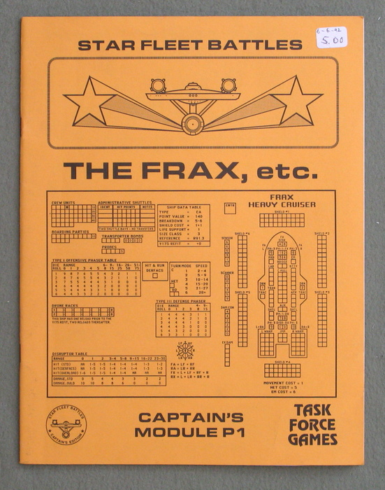Image for Star Fleet Battles: Captains Module P1 (The Frax, etc.)