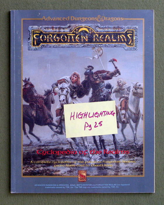 Image for Cyclopedia of the Realms (Advanced Dungeons & Dragons: Forgotten Realms) - PLAY COPY