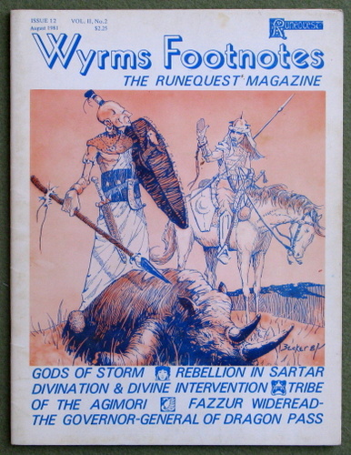Image for Wyrms Footnotes, Issue 12 (Runequest)
