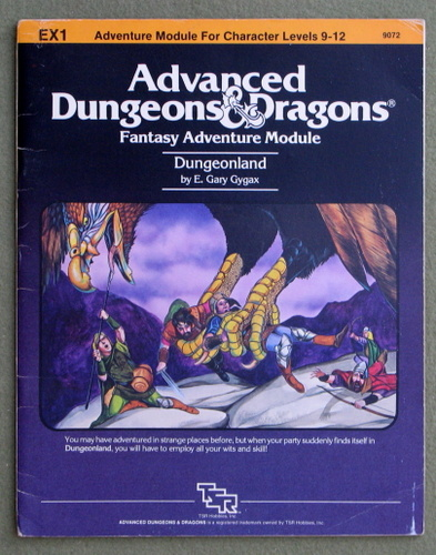 Image for Dungeonland (Advanced Dungeons & Dragons Module EX1) - PLAY COPY