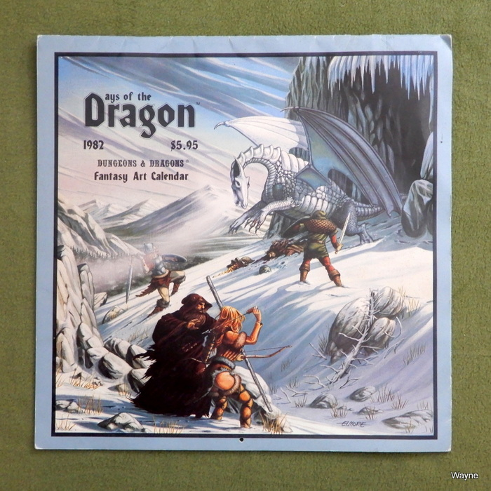 Image for Days of the Dragon: 1982 Dungeons & Dragons Fantasy Art Calendar