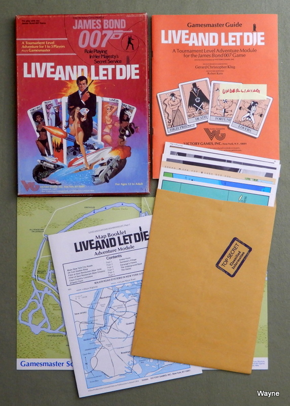 Image for Live and Let Die (James Bond 007 RPG) - PLAY SET