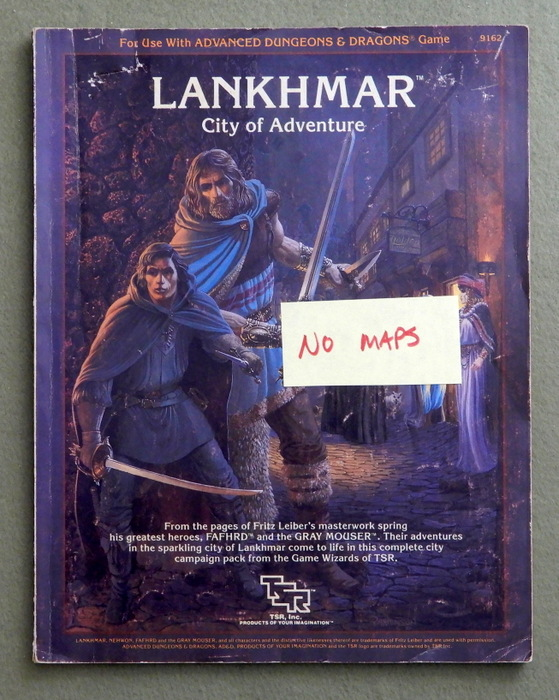 Image for Lankhmar, City of Adventure (Advanced Dungeons & Dragons sourcebook) - NO MAPS