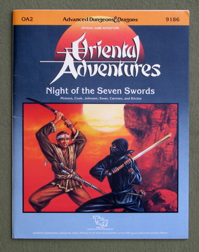 Image for Night of Seven Swords (Advanced Dungeons and Dragons/Oriental Adventures Module OA2)