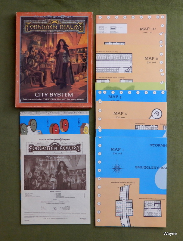 Image for City System Map Set (Advanced Dungeons & Dragons: Forgotten Realms Accessory) - PLAY SET