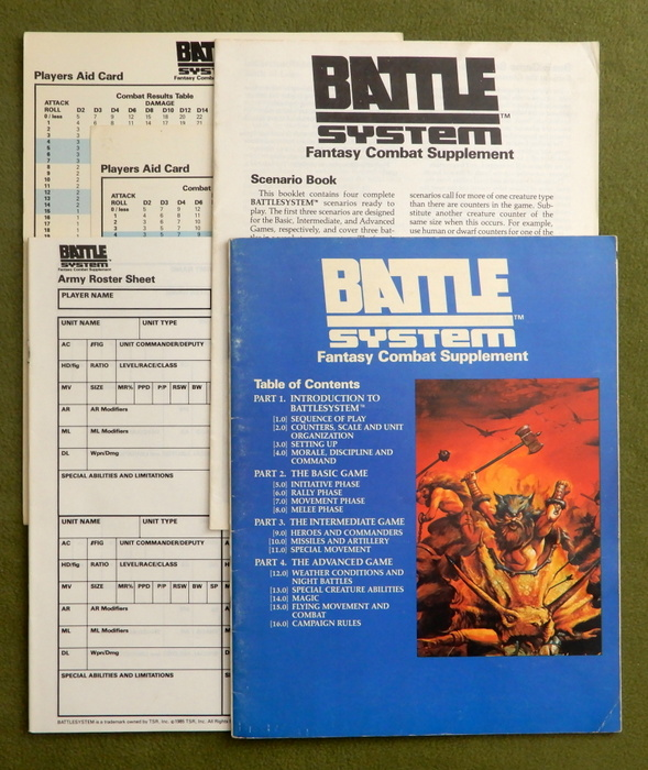 Image for BattleSystem: Rules, Roster Book, Scenario Book, Player Aid Cards