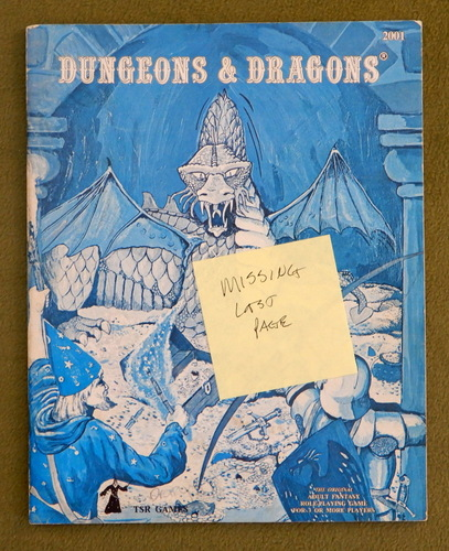 Image for Dungeons & Dragons (Classic Blue Book) - MISSING LAST PAGE