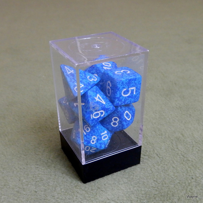 Image for Chessex Blue & Light Blue Speckled 7 Dice Set