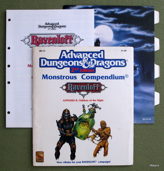 Image for Ravenloft Monstrous Compendium Appendix II: Children of the Night (Advanced Dungeons & Dragons, 2nd Edition)