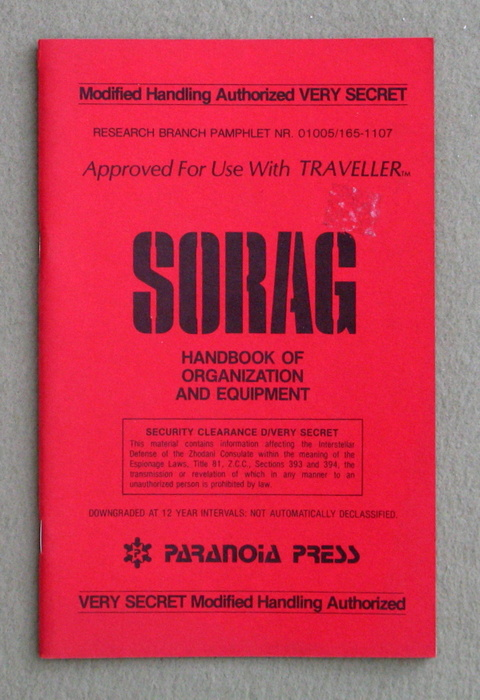 Image for SORAG: Handbook of Organization and Equipment (Traveller)