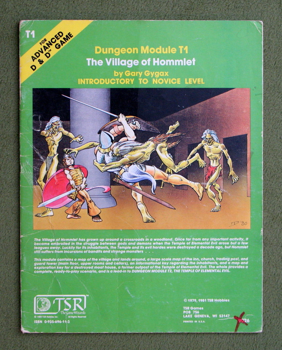 Image for The Village of Hommlet (Advanced Dungeons & Dragons Module T1) - PLAY COPY