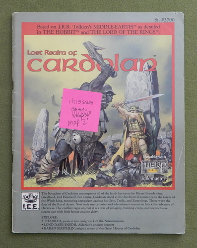 Image for Lost Realm of Cardolan (MERP) - MISSING 1 COLOR MAP