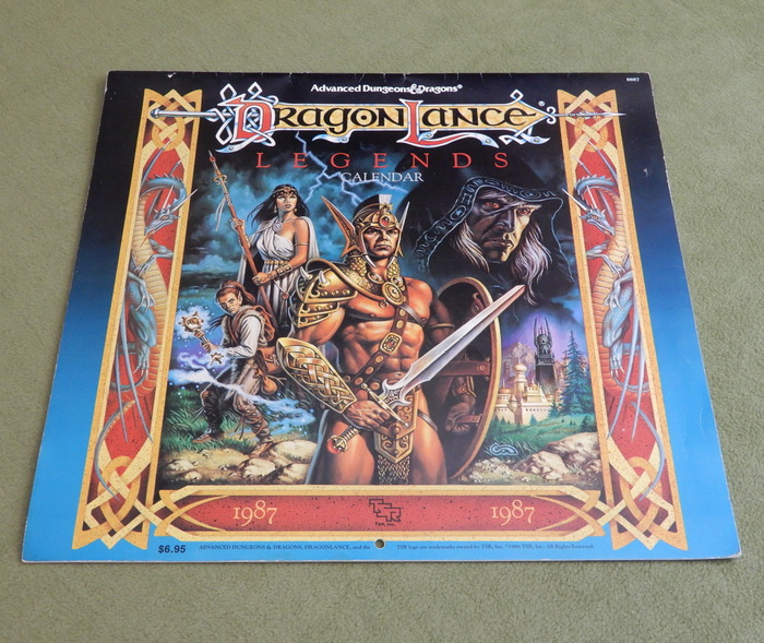 Image for 1987 Advanced Dungeons & Dragons Calendar: Dragonlance Legends