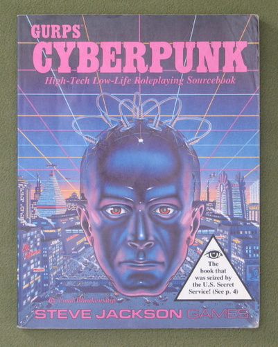 Image for GURPS Cyberpunk (1st Edition) - WORN PLAY COPY