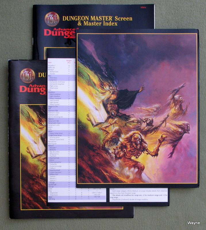 Image for Dungeon Master Screen & Master Index (Advanced Dungeons & Dragons, 2nd Edition, Revised)