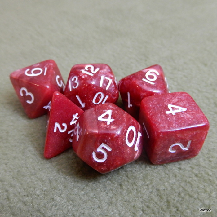 Image for Red Marble 6 Dice Set