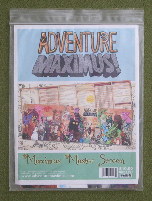 Image for Adventure Maximus! Master Screen