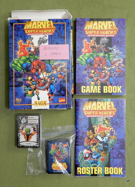 Image for Marvel Super Heroes Adventure Game (SAGA System) - MISSING 2 CARDS