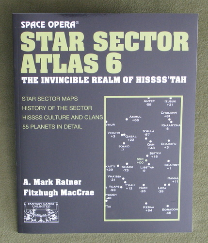 Image for Star Sector Atlas 6: The Invincible Realm of Hissss'tah (Space Opera RPG)