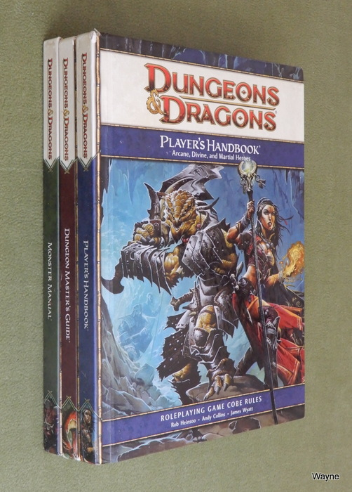 Image for Dungeons & Dragons 4th Ed Core Book Set (3 Books: Core Rulebook I Player's Handbook; Core Rulebook II Dungeon Master's Guide; Core Rulebook III Monster Manual)
