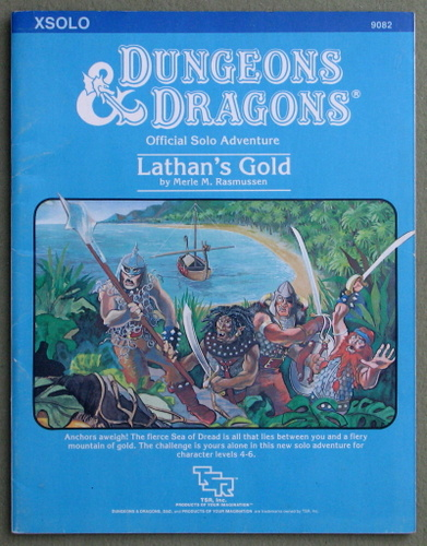 Image for Lathan's Gold (Dungeons & Dragons Module XSOLO)