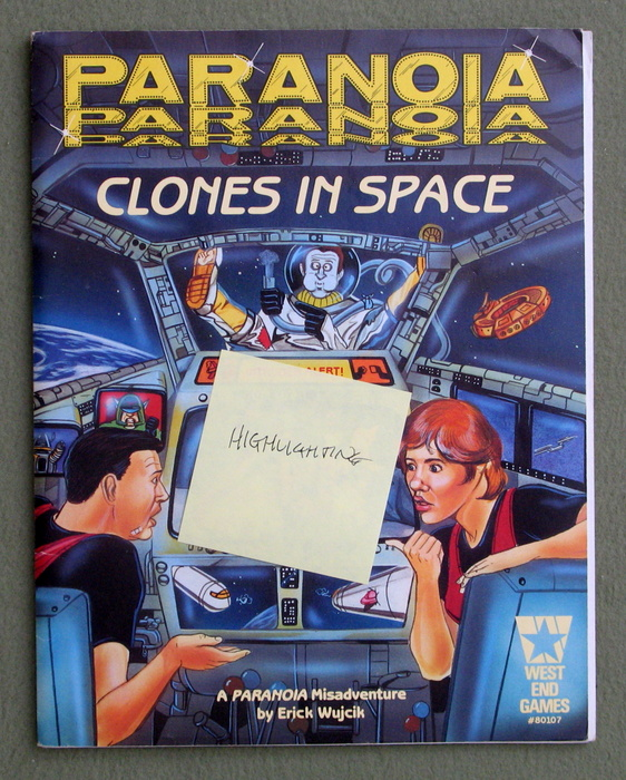 Image for Clones in Space (Paranoia RPG) - HIGHLIGHTING
