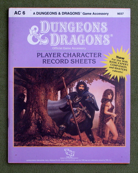 Image for Player Character Record Sheets (Dungeons & Dragons accessory AC6)