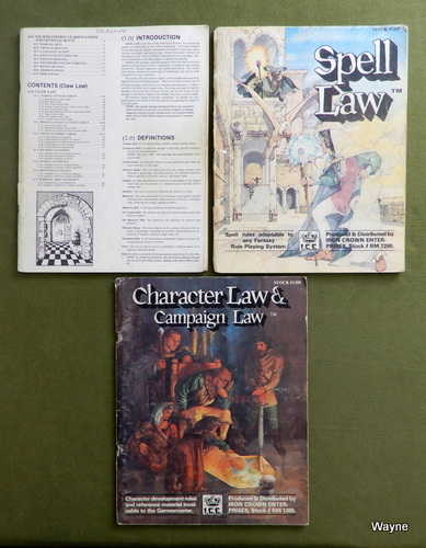 Image for Rolemaster Play Set: Arms Claw Law, Spell Law, Character Campaign Law