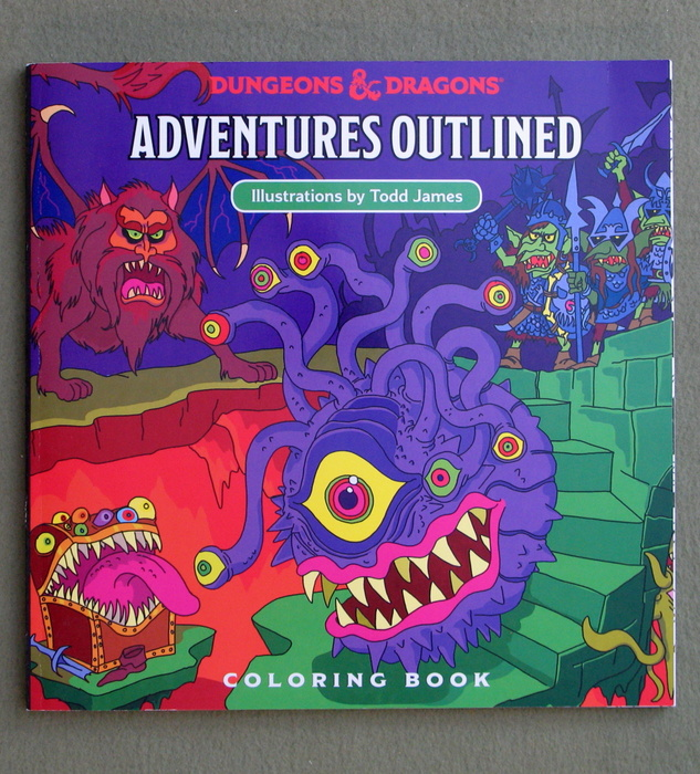 Image for Dungeons & Dragons Adventures Outlined Coloring Book