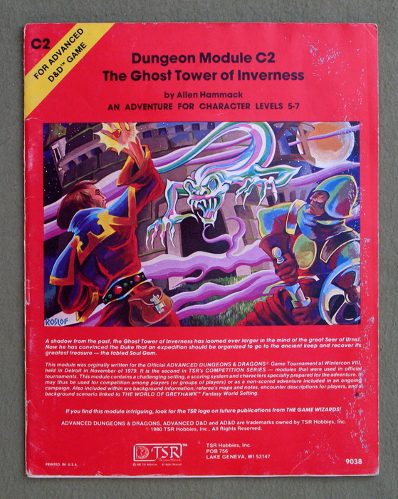 Image for The Ghost Tower of Inverness (Advanced Dungeons & Dragons module C2) - PLAY COPY