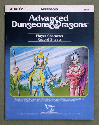Image for Player Character Record Sheets (Advanced Dungeons & Dragons)