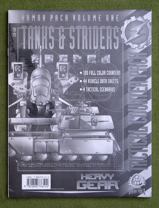 Image for Heavy Gear Armor Pack Volume One: Tanks and Striders Tactical Counter Pack