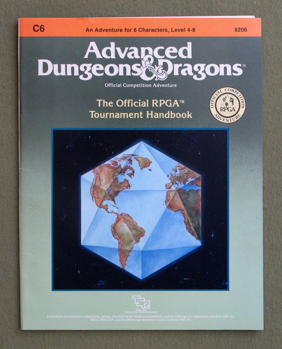 Image for Official RPGA Tournament Handbook (Advanced Dungeons and Dragons module C6)