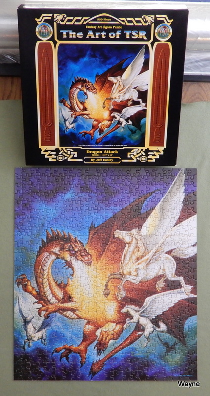"Image for The Art of TSR: Dragon Attack by Jeff Easley (550 Piece Jigsaw Puzzle: 15½"" x 18"")"