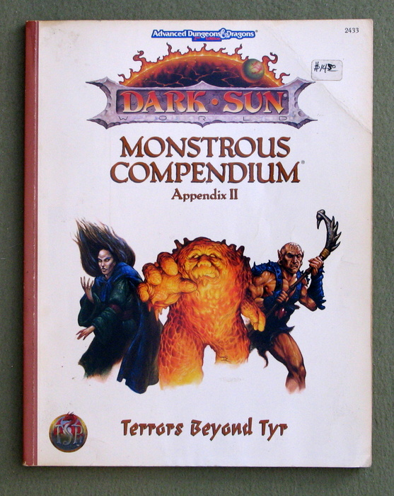 Image for Terrors Beyond Tyr (Advanced Dungeons & Dragons, 2nd Edition : Dark Sun Monstrous Compendium Appendix II) - PLAY COPY