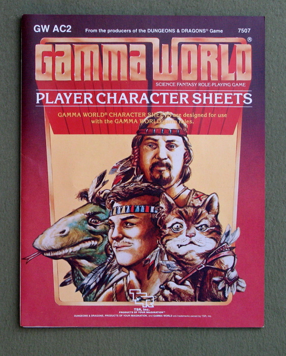 Image for Player Character Sheets (Gamma World Accessory GWAC2)