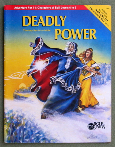 Image for Deadly Power (Advanced Dungeons & Dragons: Role Aids)