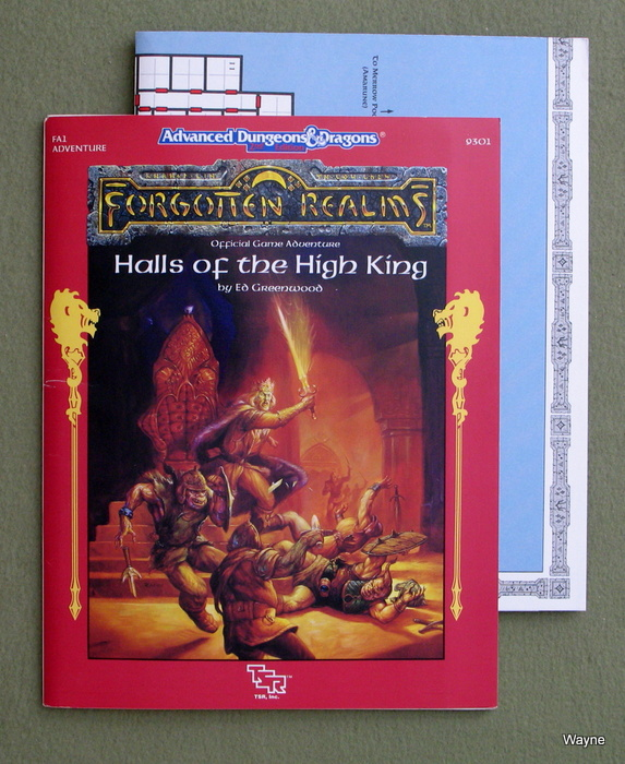 Image for Halls of the High King (Advanced Dungeons & Dragons/Forgotten Realms Module FA1)