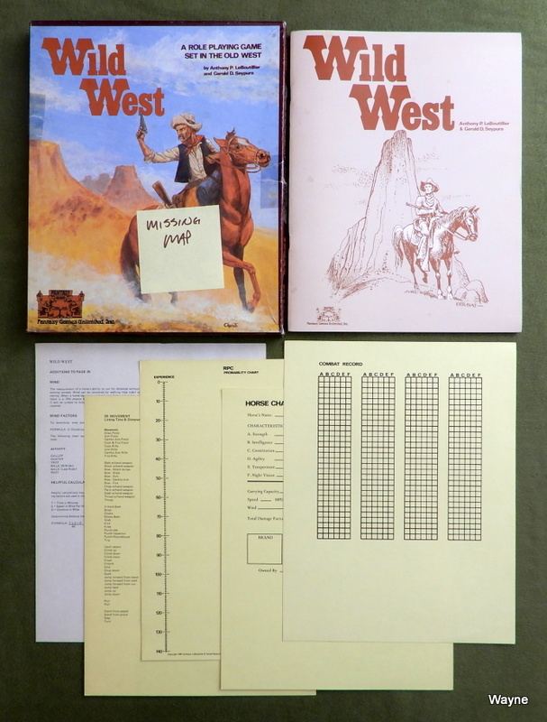 Image for Wild West: Role Playing Game - MAP MISSING