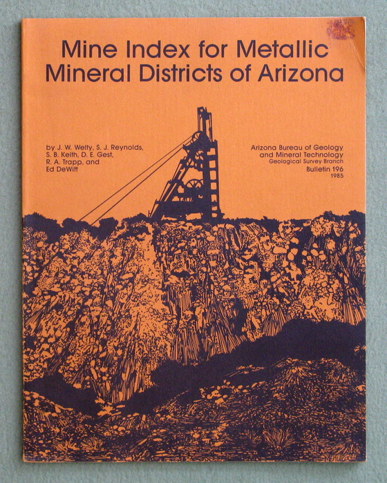 Image for Mine Index for Metallic Mineral Districts of Arizona