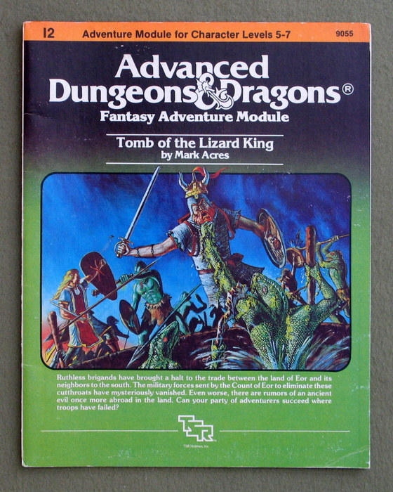 Image for Tomb of the Lizard King (Advanced Dungeons & Dragons/AD&D Module I2) - 1ST PRINT